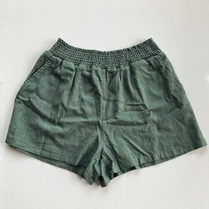 Sage Green Linen Shorts